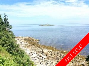 Guysborough County water front-vacant lot. for sale: